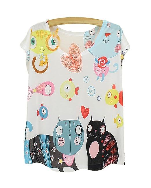 bff4b1a20 Camisetas con dibujos de gatos | Todo gatos