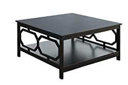 Convenience Concepts Omega Square 36-Inch Coffee Table, Black