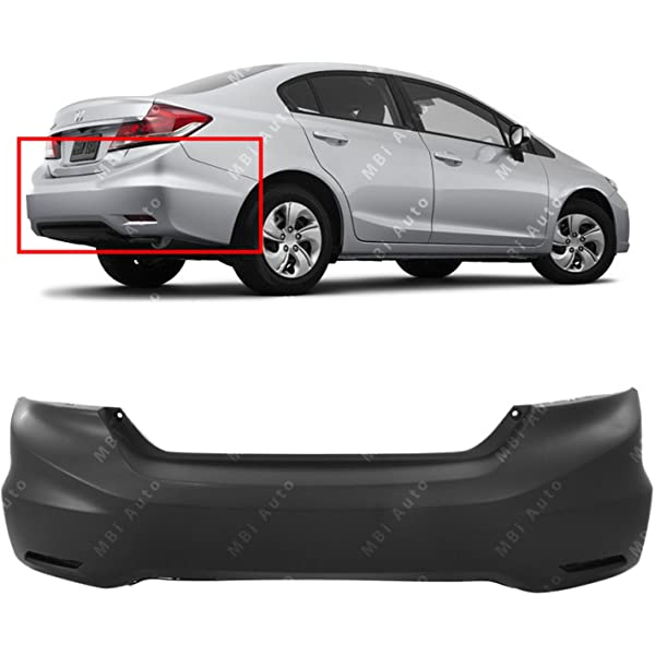 HO1100277 Primered Rear Bumper Cover for 2013-2015 Honda Accord Sedan 4 Door 13-15 MBI AUTO