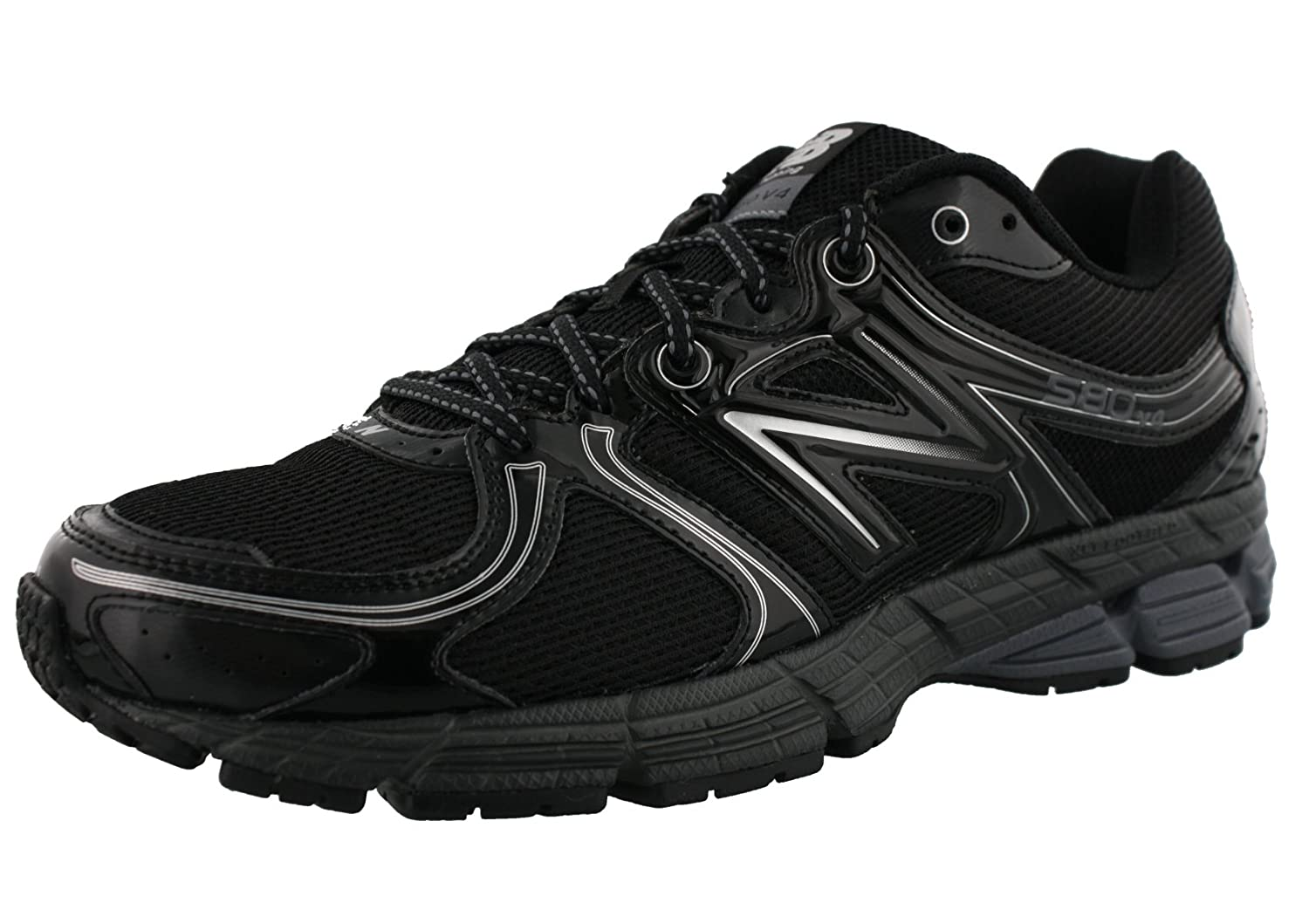 New Balance Men's Running Sneaker B01AAT72V0 9 4E US|Black/Silver