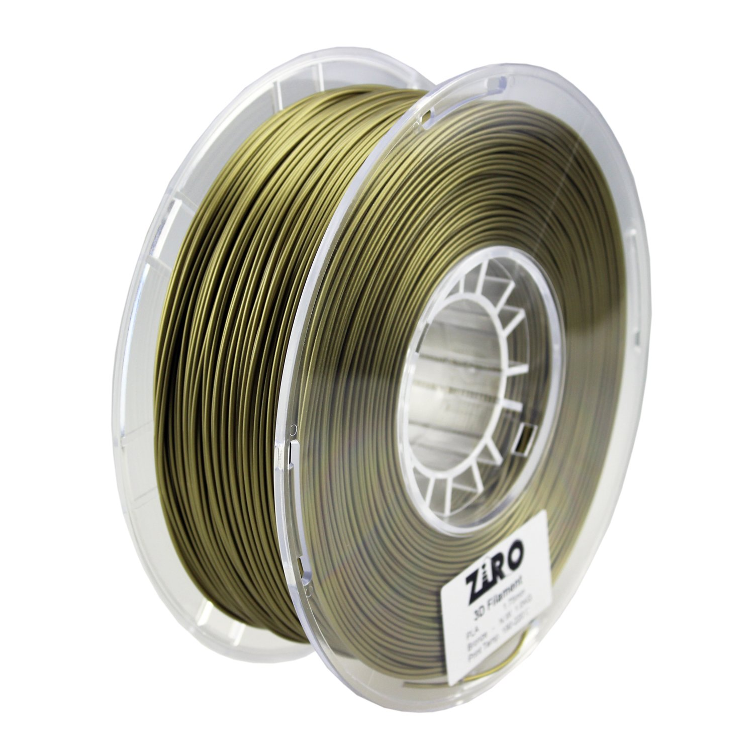 ZIRO 3D Printer Filament PLA 1.75 1KG(2.2lbs), Dimensional Accuracy +/- 0.05mm, Bronze