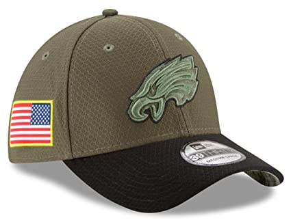 Philadelphia Eagles New Era NFL 39THIRTY 2017 Sideline  quot Salute to  Service quot  Hat c9feea9d8023
