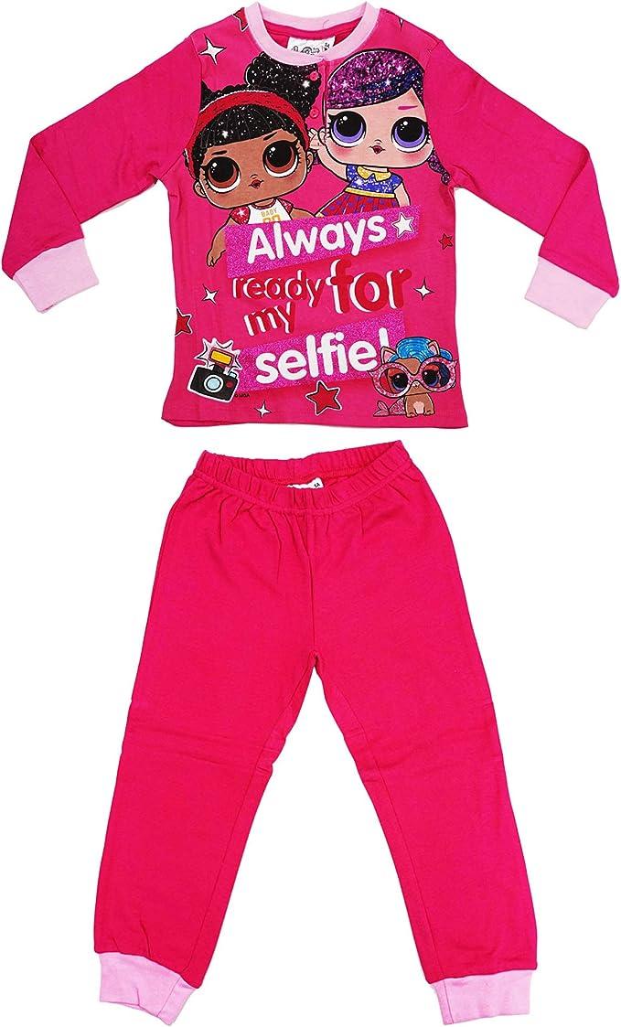 Lol Surprise HS7162 Pijama de Dos Piezas, Manga Larga, cálido algodón Interlock, para niña