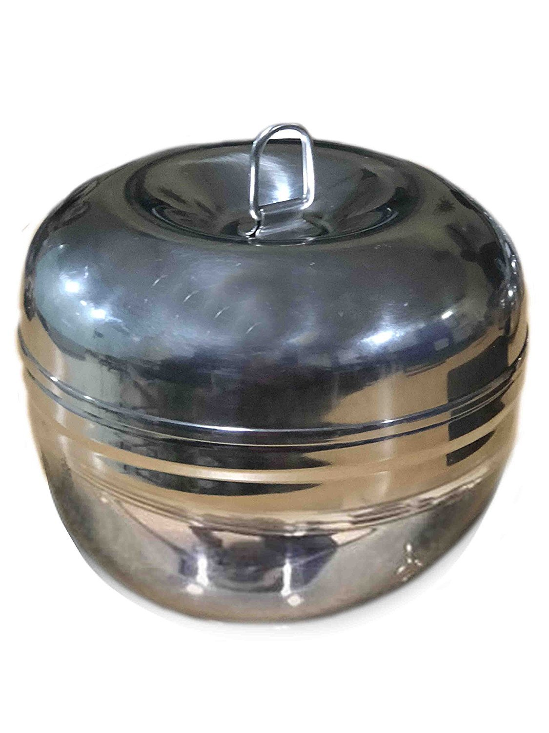 Khandekar (with device of K) Stainless Steel Apple Deep Dabba, Food Storage Containers, Storage Box, Deep Storage Box, 4 X 4 Inch
