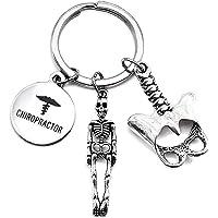 Chiropractor Keychain, Spine Specialist Keychain, Chiropractic Symbol, Human Bone, Human Spine, Skeleton Charm, Anatomy…