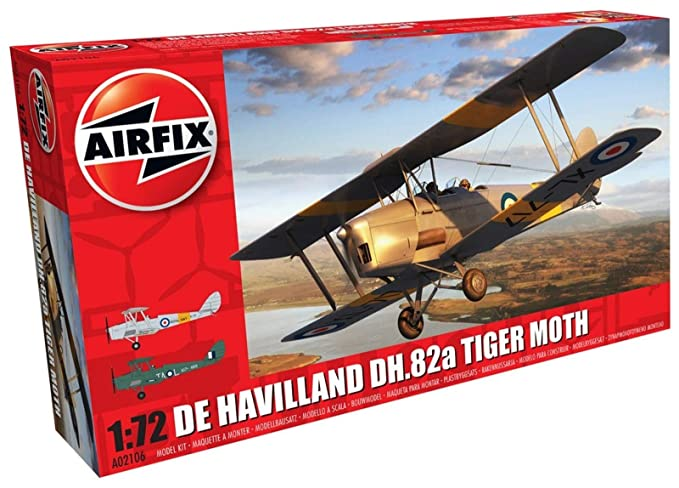 Amazon.com: Airfix De Havilland DH.82a Tiger Moth 1:72 ...