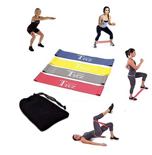 Insense Exercise Exercise Resistance Loop Bands, Set of 4 ...