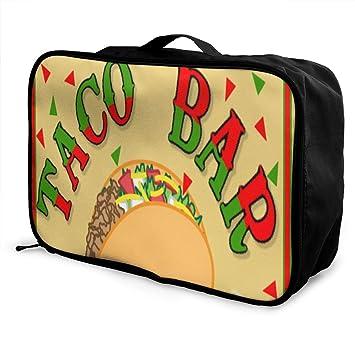 Amazoncom Travel Bags Taco Bar Fiesta Portable Suitcase Trolley