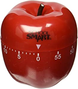 School Smart Apple Shaped Timer with Bell, 60 Minutes - 084083