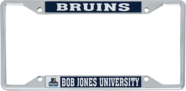 Mascot Desert Cactus Bob Jones University BJU The Bruins NCAA Metal License Plate Frame for Front or Back of Car Officially Licensed