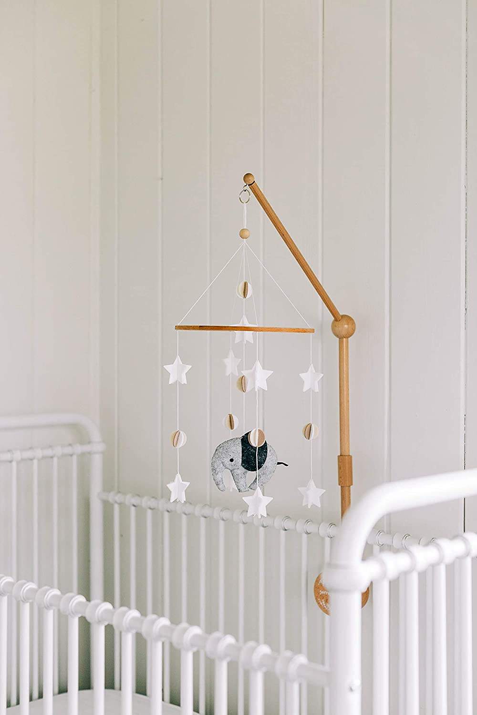 Fern Baby Crib Mobile Scandinavian Elephant Sorrel Baby Shower Gift Nursery Decoration