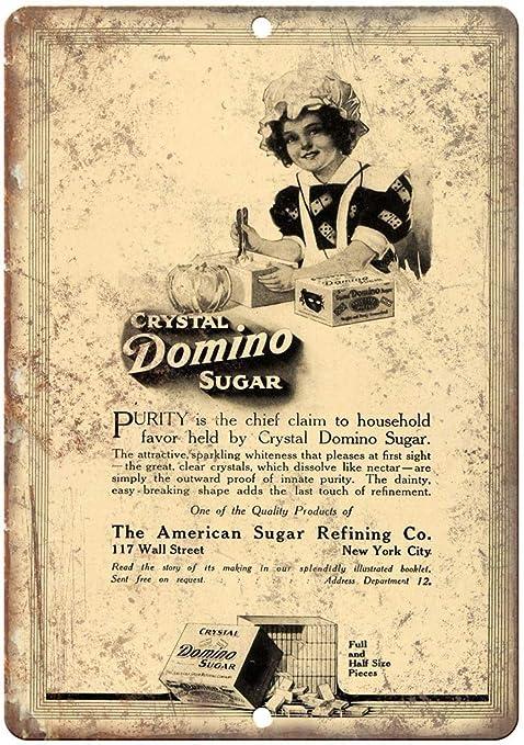 Shunry Crystal Domino Sugar Placa Cartel Vintage Estaño ...