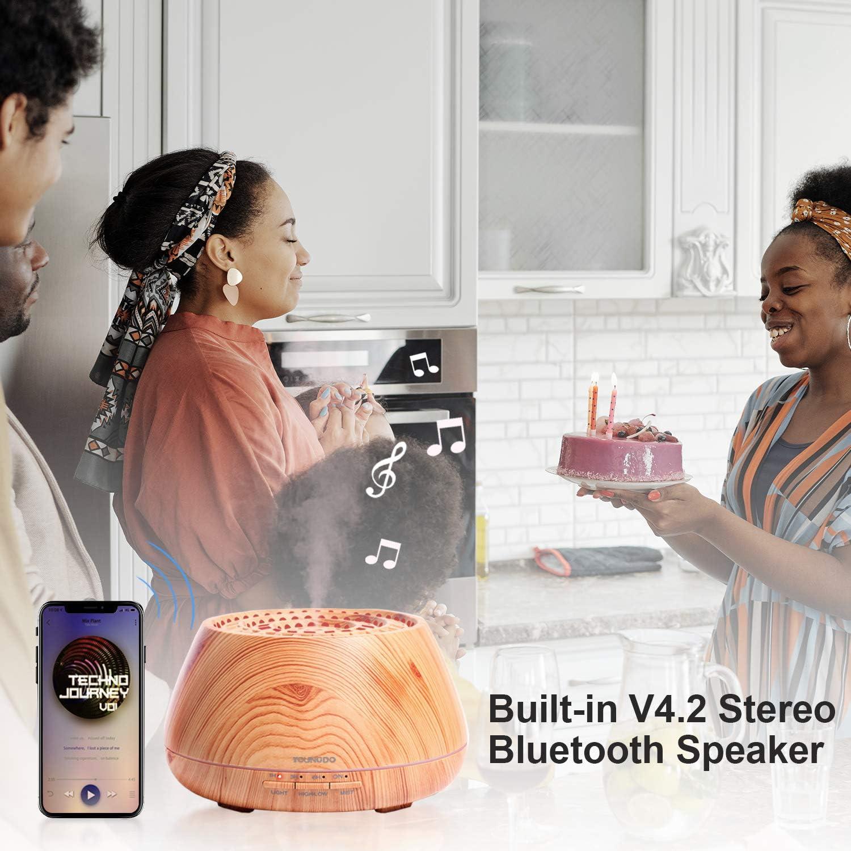Diffuseur d/'Huile Essentielle avec APP et Enceinte Bluetooth Diffuseur Huile Dssentielle Maison Brume Fra/îche Lumi/ère de 30 Couleurs YOUNGDO Diffuseur Huiles Essentielles Electrique 400ML