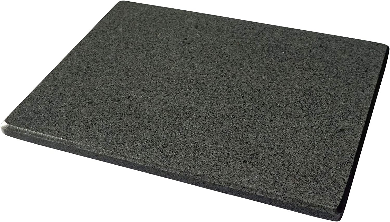 Piedra de granito pulido para hornear pizzas, universal, 38 x 30 x 2 cm