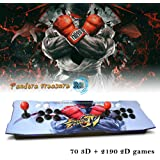 ElementDigital Arcade Game Console 1080P 3D & 2D Games 2260 in 1 Pandora's Box 70 3D Games 2 Players Arcade Machine Arcade Joystick Support Expand 6000+ Games