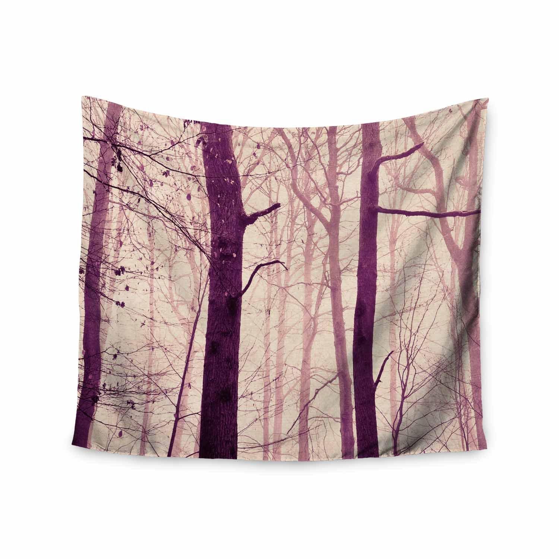Kess InHouse Iris Lehnhardt Purple Trees Magenta Pink Nature Travel Photography Digital 68 x 80 Wall Tapestry