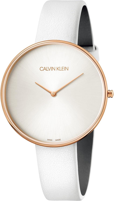 Calvin Klein Reloj Analógico para Mujer de Cuarzo con Correa en Cuero K8Y236L6