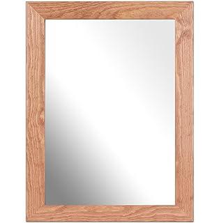 Inov8 British Made Traditional Real Wood Mirror Kayla Light Oak A4 Inch