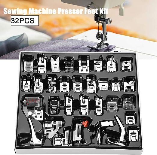 GXMZL Pies prensatelas Kit, prensatelas pie, 32pcs / Set de ...