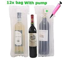 Anti-schock Glass Bottles packaging bags , MonoDeal 12pcs air gonflable Emballage bulle de protection d'emballage Wrap Bag Pour Bouteille de vin