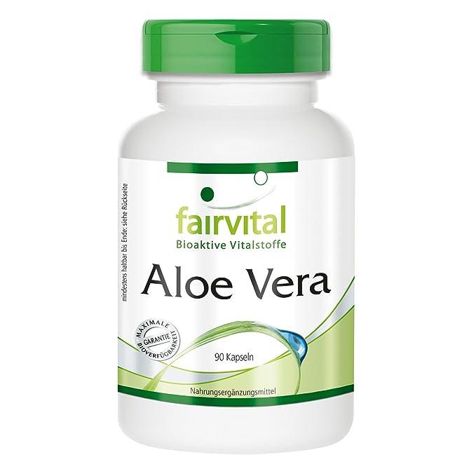 Aloe Vera cápsulas - VEGANO - 90 cápsulas - 200: 1 Aloe Vera Barbadensis Miller concentrarse - ¡Calidad Alemana garantizada!