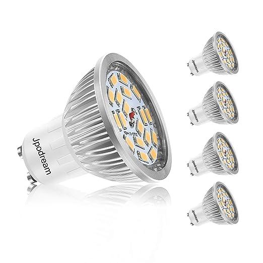 Bombillas LED GU10, 7W 18 x 5730 SMD Lámpara LED, Equivalente a 60Watt Lámpara