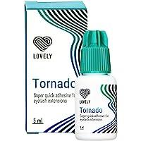 LOVELY Eyelash Glue TORNADO (5ml, kleur: ZWART) ultrasnelle lijm, droogtijd: IMMEDIATELY - 8 weken kleefkracht, zeer…