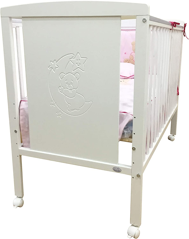 Cuna Colecho de bebe (10 posiciones de somier)+ kit de colecho + 4 ruedas + colchon viscolastico