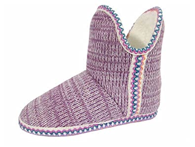 e9bff518904e1 Coolers Ladies Fleece Lined Hard Sole Slipper Boots, Pink, L: Amazon ...