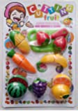 Webby Realistic Sliceable Fruits And Vegetables Cutting Play Toy (Set Of 19 Pcs)