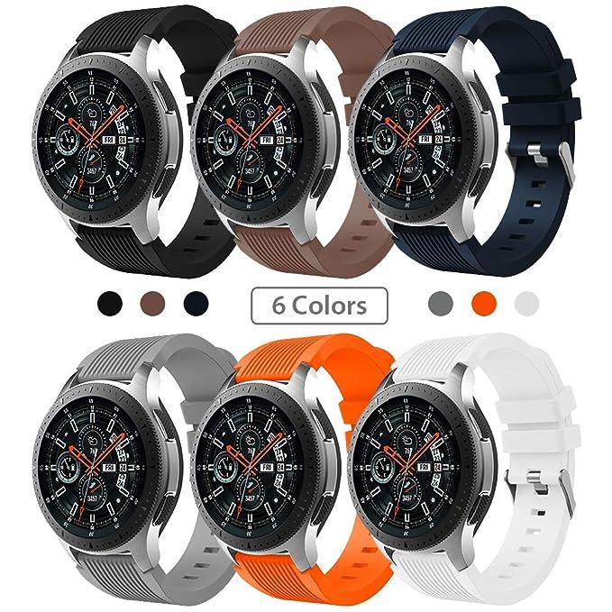 Sundaree Correa Samsung Galaxy Watch 46MM,6 Colores Silicona 22MM Banda Pulseras Repuesto Correa de