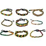 Rasta Coloured Friendship Bracelets - Hand Made - Tie-on - set of 9