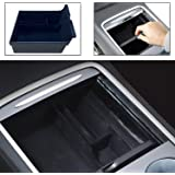 DIBMS Center Console Organizer Tray Compatible with 2021 Tesla Model 3 Model Y Armrest Hidden Cubby Drawer Storage Box Contai