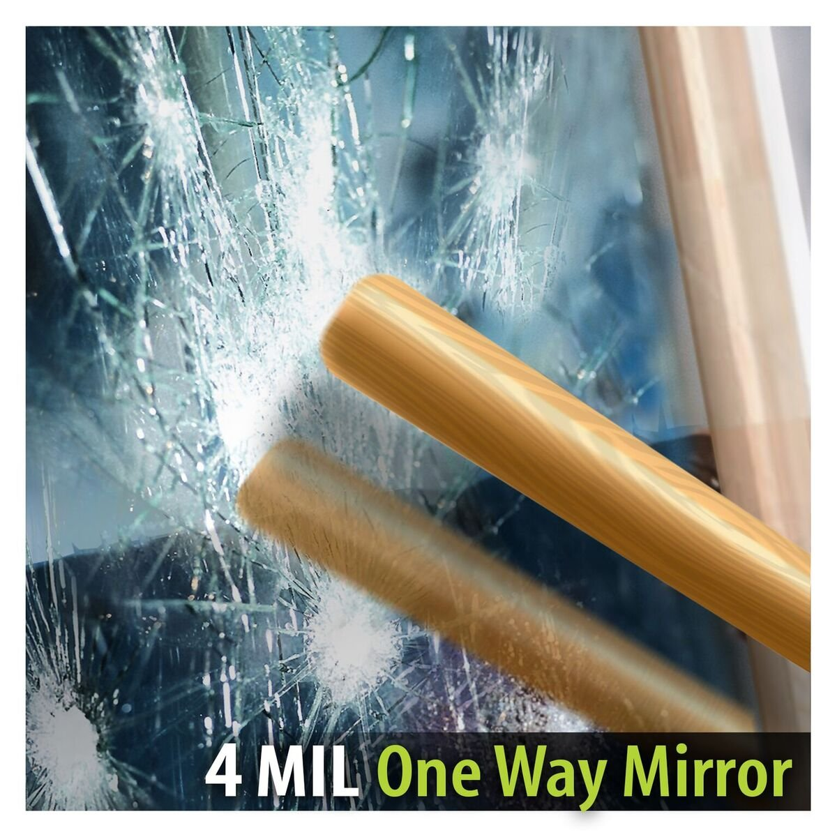 BDF S4MS15 Window Film Security and One Way Mirror Silver 4 Mil (36in X 12ft)