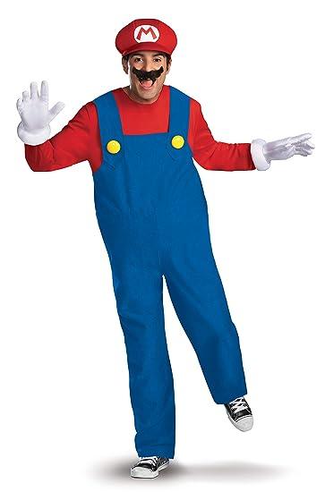 Nintendo Super Mario Bros Deluxe Disfraz, Rosso, Extra-Large Mens