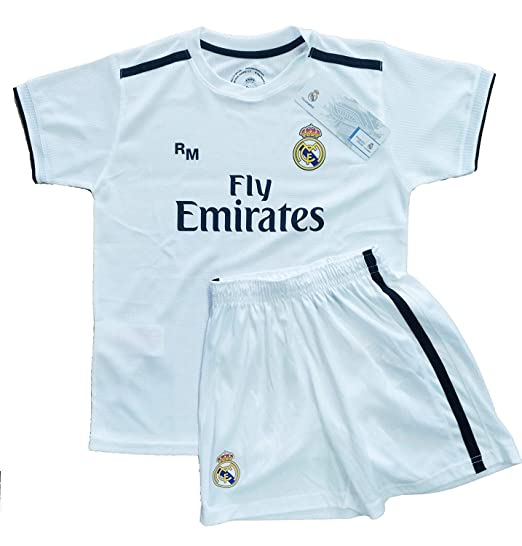 936b24d4f96 Kit - Customizable - First Team Real Madrid Original Replica 2018 2019 (12  Years) Black  Amazon.co.uk  Clothing