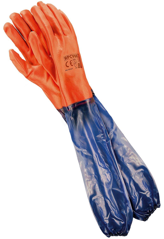 REIS Extra Long Arm Work Gloves for Mechanical Work | Waterproof Gloves | Ideal Pond Care Gloves or Sandblast Gloves | EN388 & EN420 | Size: 10.5