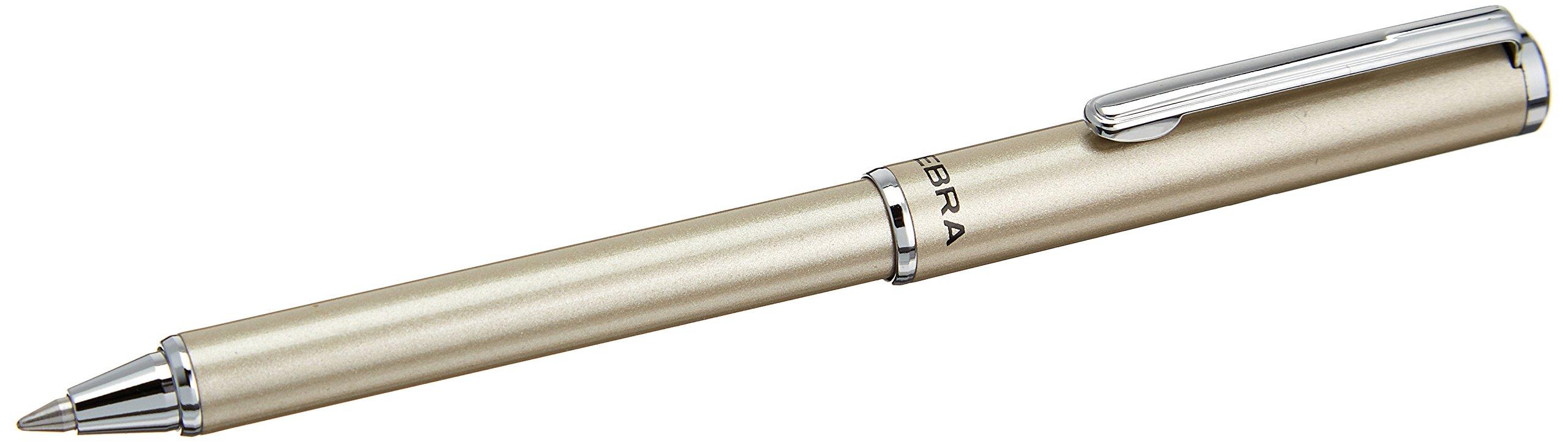 1 Mini Lapicera de 0.7mm color plateado Marca Zebra