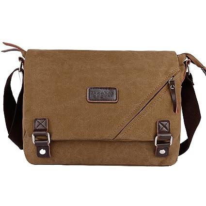 Image Unavailable. Image not available for. Color  ibagbar Canvas Messenger  Bag Shoulder Bag Laptop Bag Computer ... c86d210f1f43c