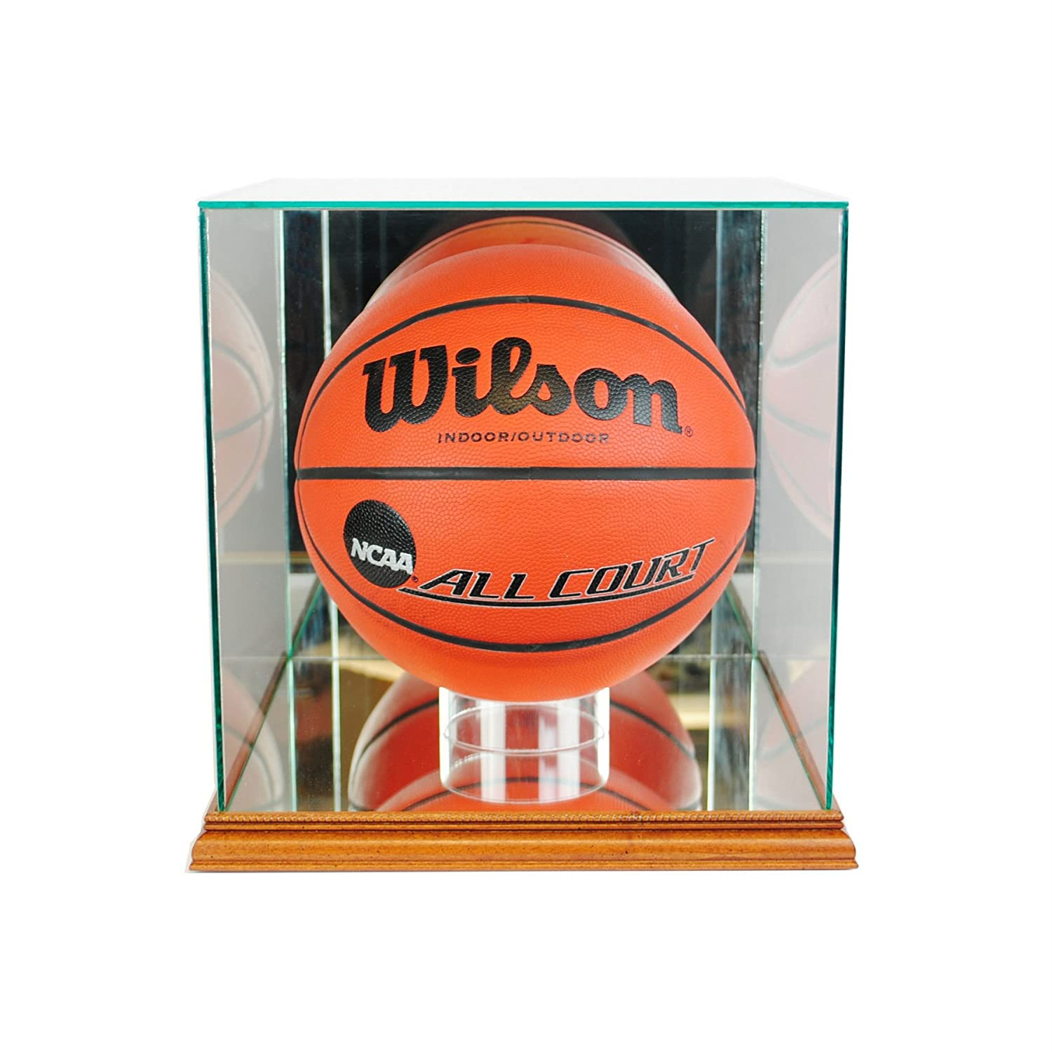 Perfect Cases Rectangle Basketball Glass Display Case, Black Inc. BBR
