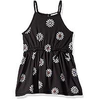 Splendid Girls Daisy Print Dress Sleeveless Casual Dress - Black