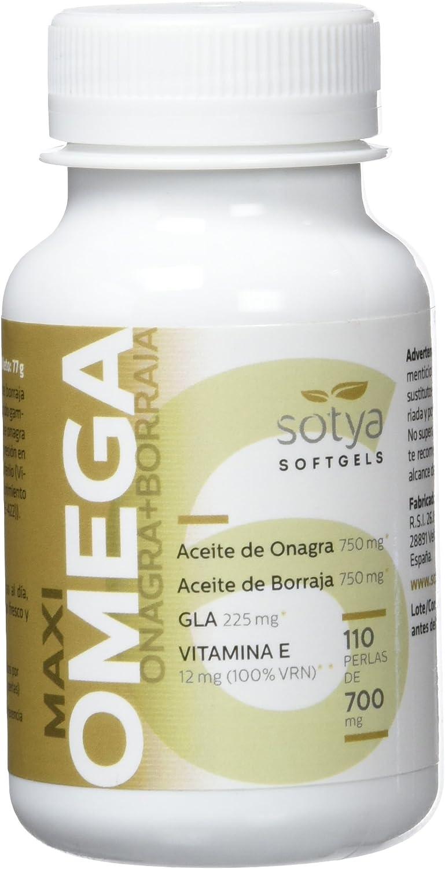 SOTYA Omega 6 (Onagra y Borraja) 110 perlas 700 mg: Amazon.es: Salud y cuidado personal