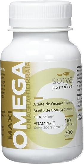 SOTYA Omega 6 (Onagra y Borraja) 110 perlas 700 mg: Amazon.es ...