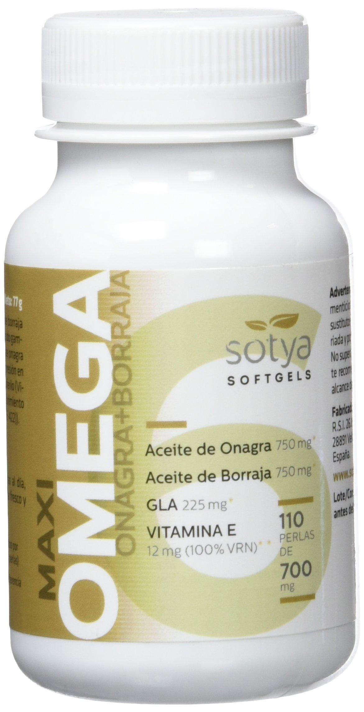 SOTYA Omega 6 (Onagra y Borraja) 110 perlas 700 mg product image