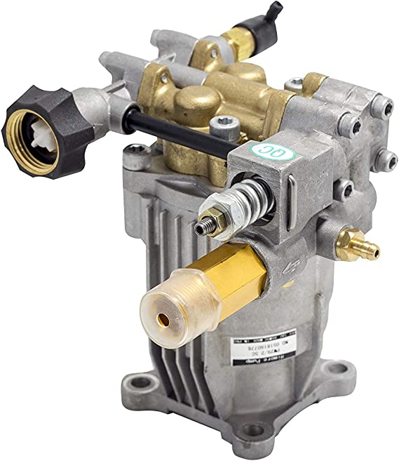 "Horizontal Pump - 3/4"" Shaft - 3000-3200 PSI - New - Premium - Cold Water - Gasoline - Pressure Washer - Power Washer - Replacement - Axial - 2.3-2.5 GPM Aluminum Head"