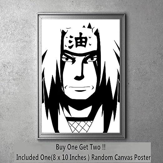 Legend of Ninja Jiraiya Manga Anime Minimalism Canvas Art Print 8 x 10 Inches,No Frame
