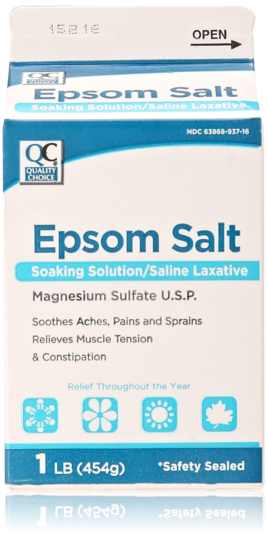 Quality Choice Epsom Salt, 1 Pound Everready First Aid NA
