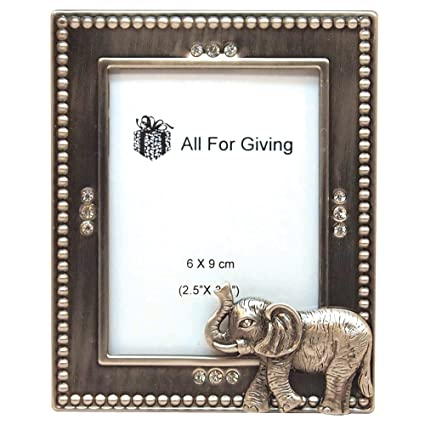 Amazon.com - All For Giving Elephant Picture Frame, 2.5 by 3.5-Inch ...
