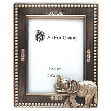 all for giving elephant picture frame 25 by 35 inch pewter - Elephant Picture Frame