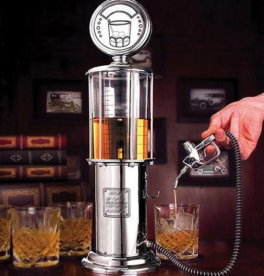 WAOBE Dispensador De Licor De Bomba De Gas - 35 OZ Accesorios De Mini Barra Dispensador De Cerveza De Plástico Dispensador De Bebida De Agua Dispensador De ...